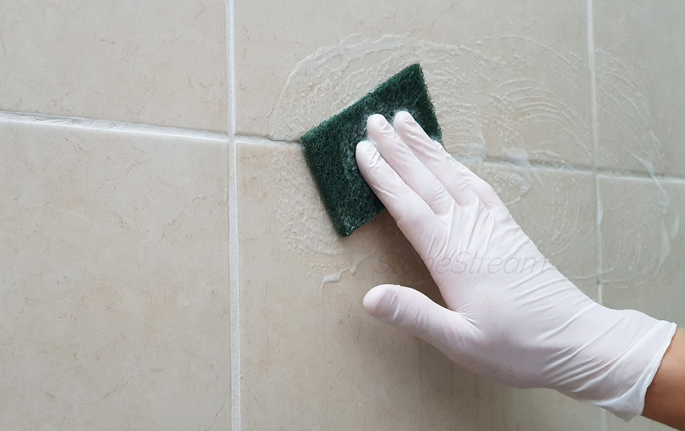how to clean shower grout shower