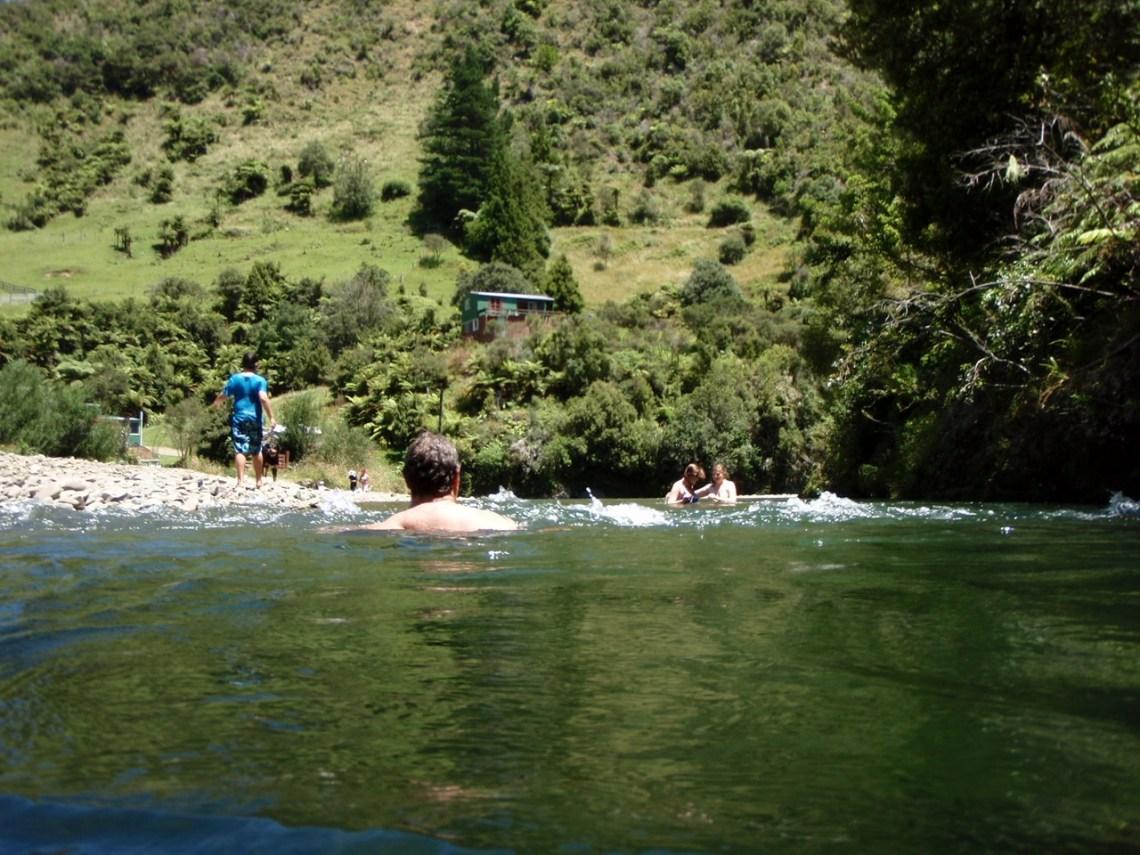 tewaiti stream and the love shack, opotiki, new zealand