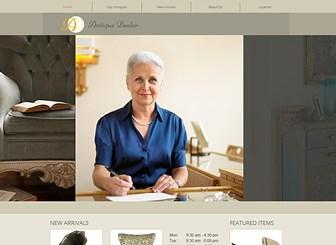 Antique Dealer Website Template Wix