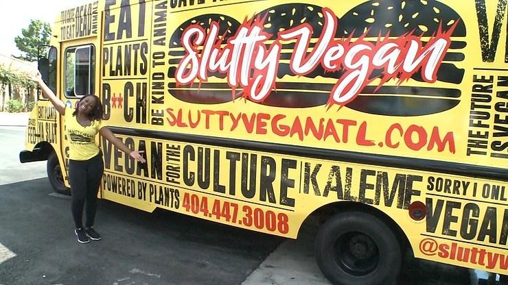 vegan burger food truck