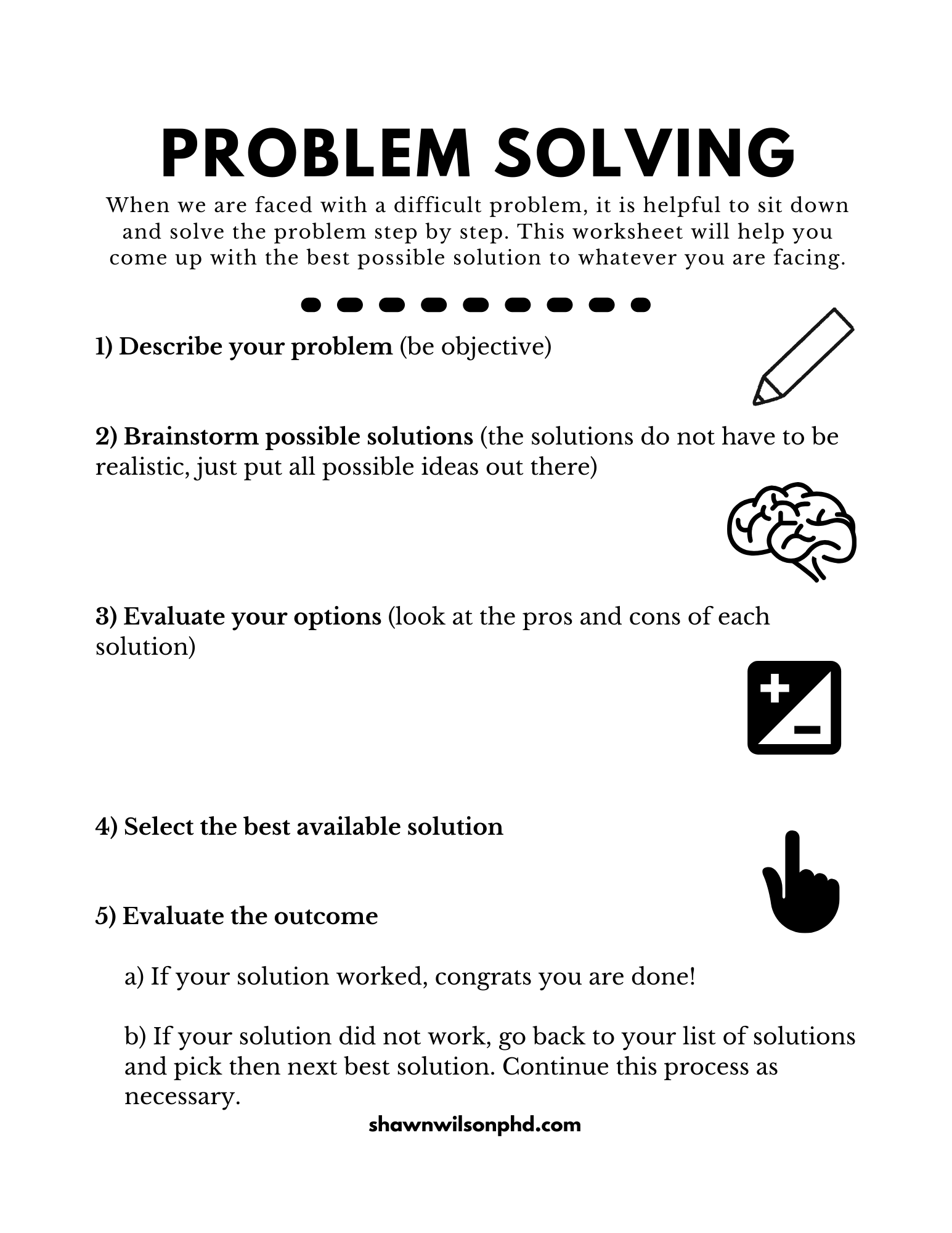 New Worksheets Behavior Activation And Problem Solving