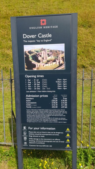 Dover Castle Entrance fee