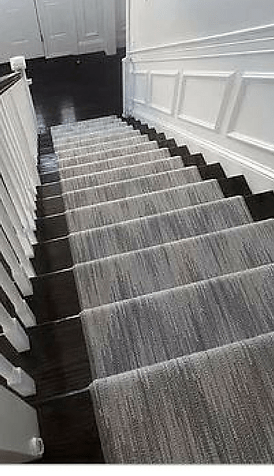Stair Runners Carpet Hall Runners K Powers Company | Black And White Stair Carpet | Entry Hall | Square Pattern | Luxurious | American Style | Small Space