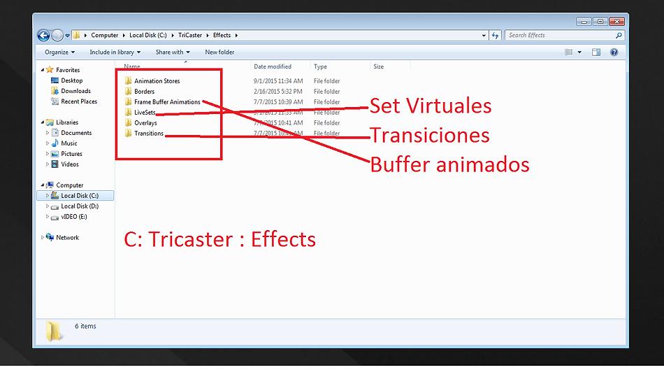 Pantalla de Creación de Backup TriCaster AVTech