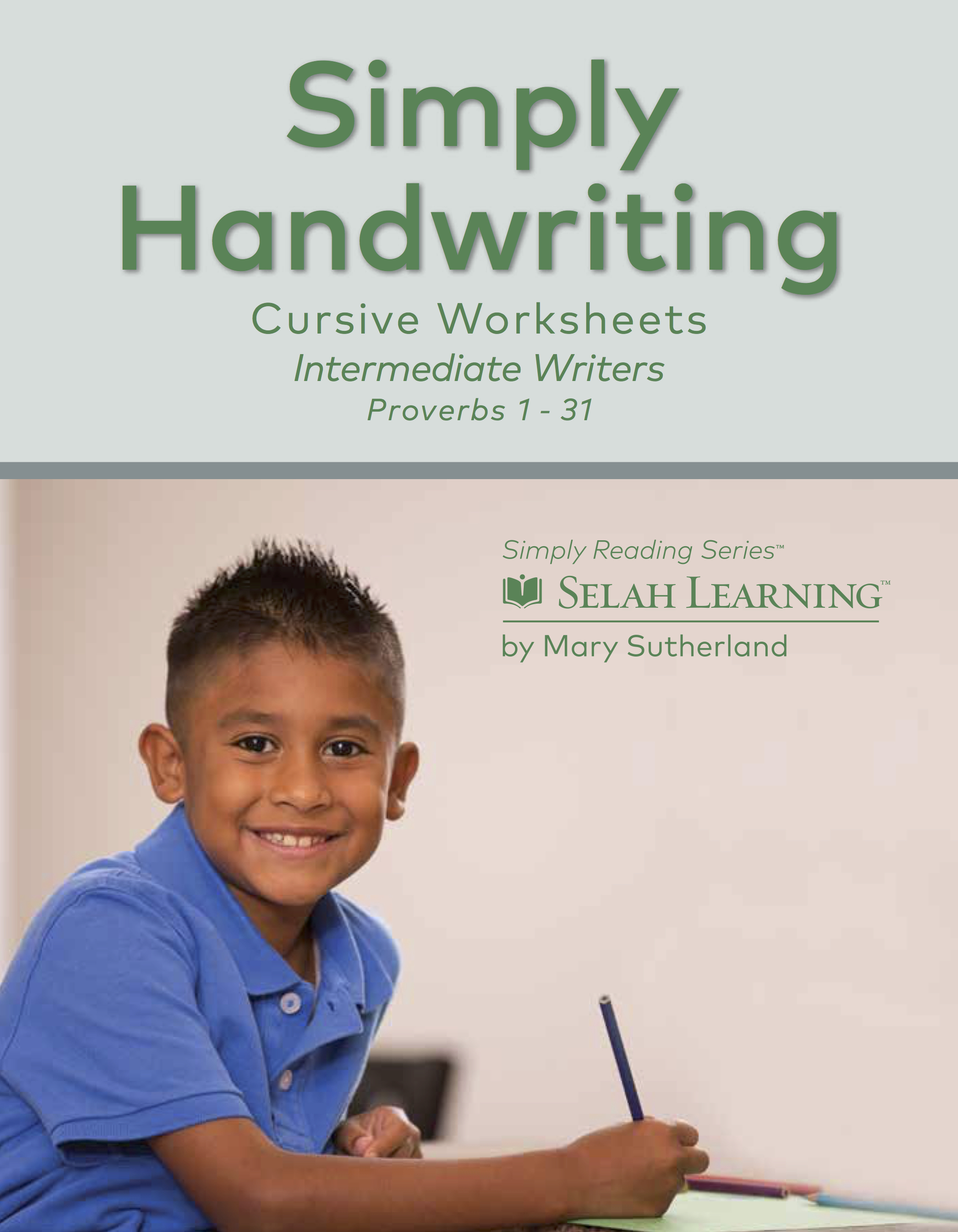 Simply Handwriting Cursive Worksheets Proverbs 1