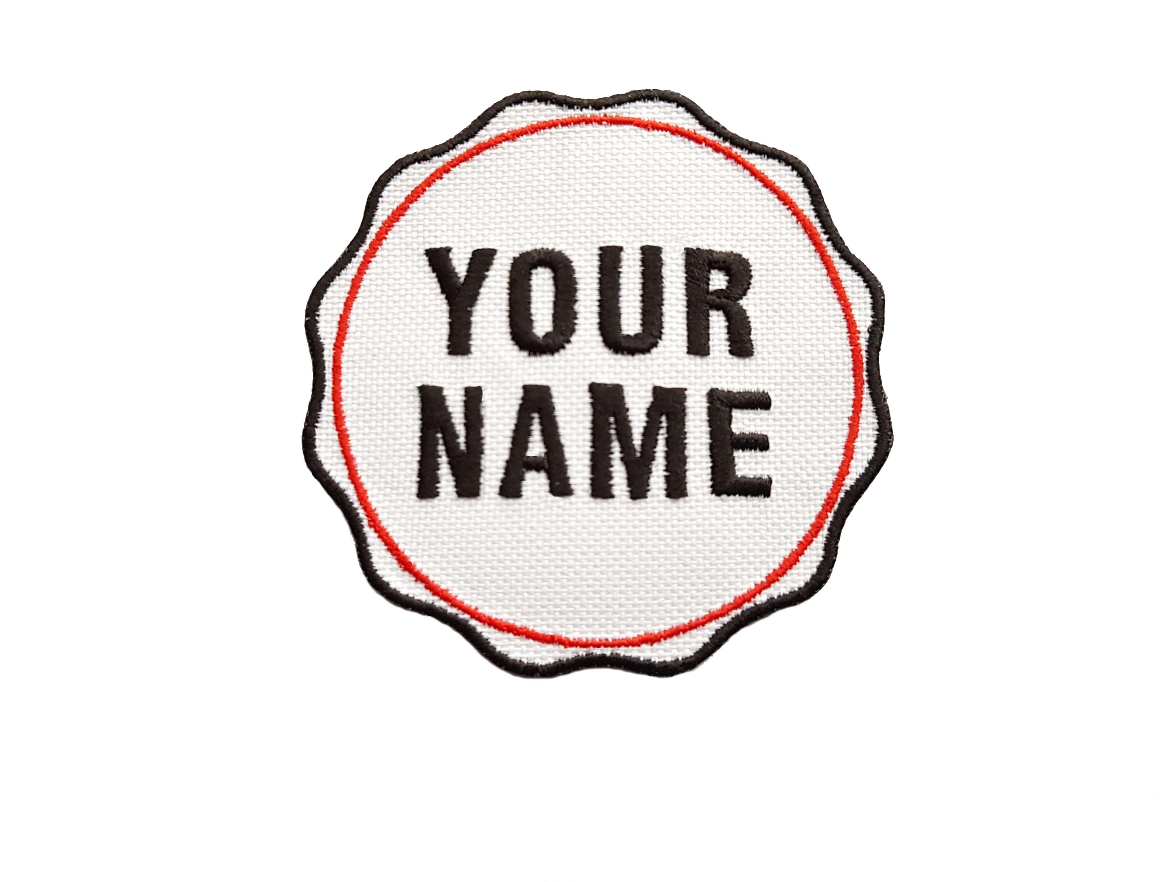 Personalised Bottle Cap Style Custom Name Embroidered Iron