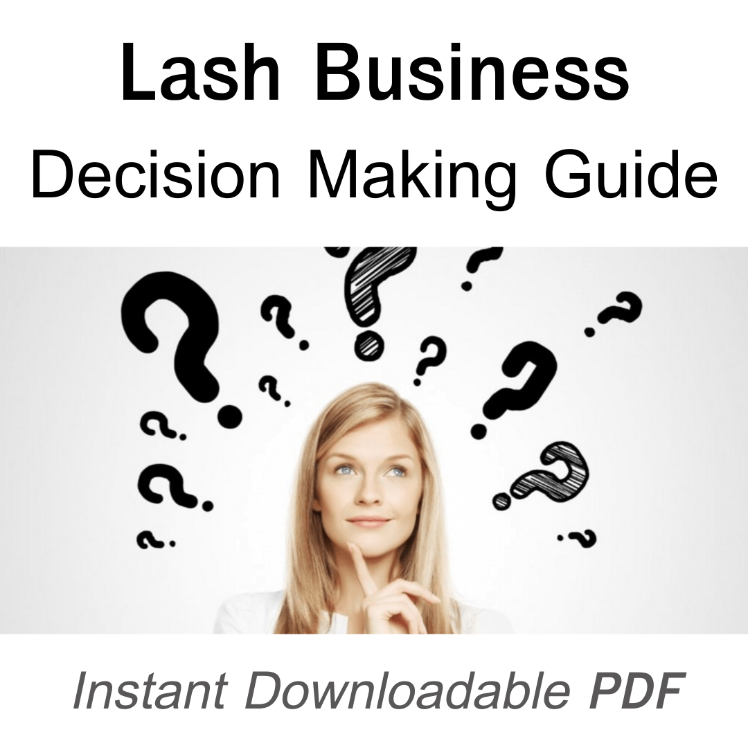 13 Step Lash Business Decision Making Worksheet