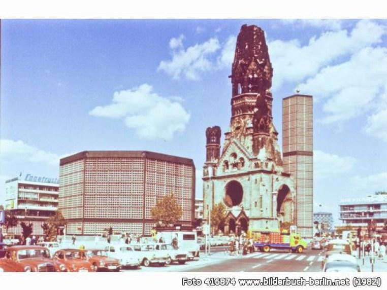 Kościół Cesarza Wilhelma wBerlinie w1982 roku