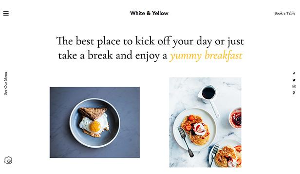 restaurants food website templates breakfast cafe