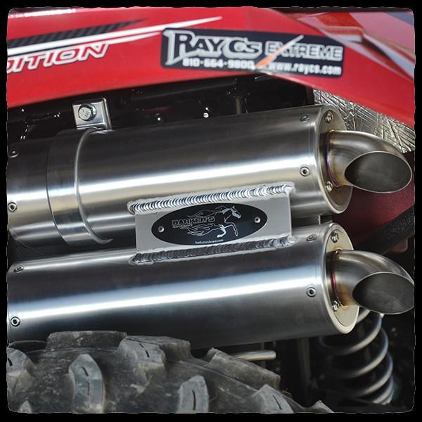 barker s yamaha grizzly kodiak 700 dual exhaust system for 2016 models l1feoutdoorsatv com