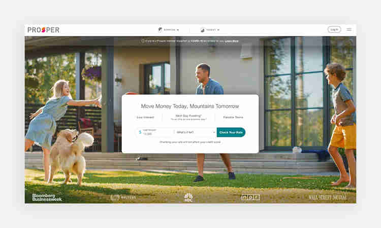 Prosper focuses on peer-to-peer crowdfunding for personal loans