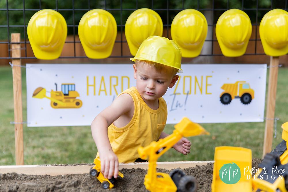 A Construction Theme Boys Birthday Party Construction Birthday