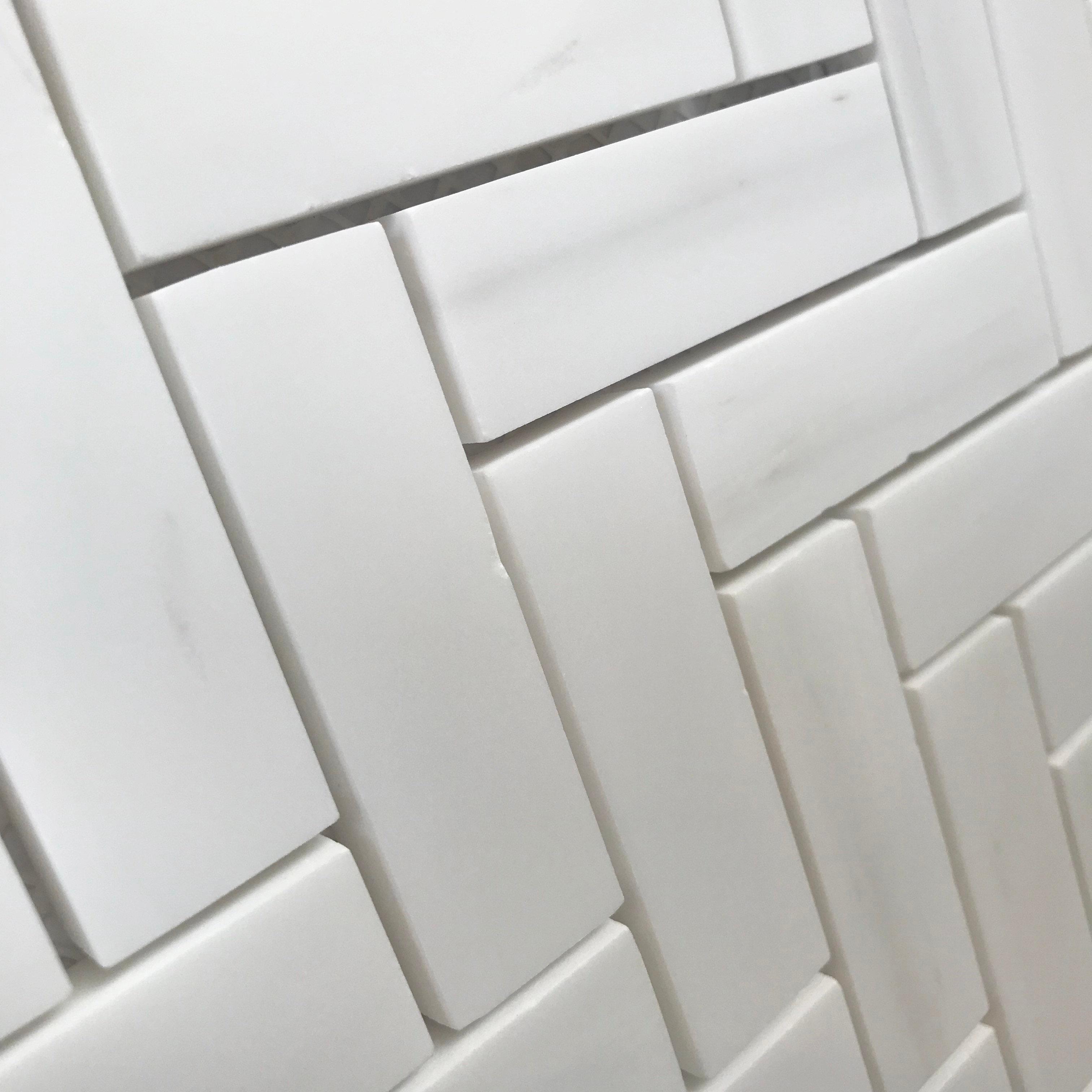 herringbone dolomite polished cercan tile