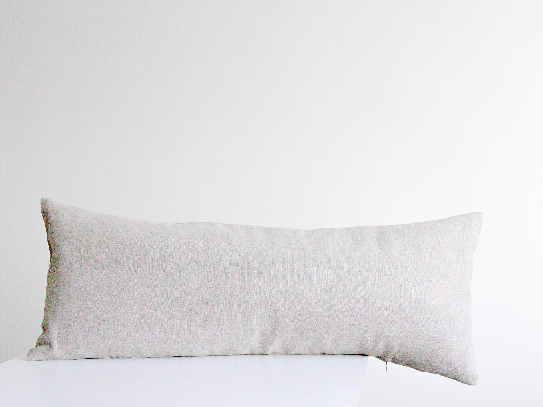 extra long lumbar pillow cover natural undyed linen flax