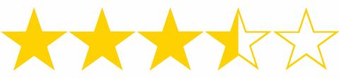 Resultado de imagen de tres estrellas y media