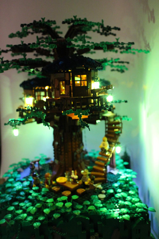 Lego Baumhaus 21318 Mit Led Beleuchtung Derboor