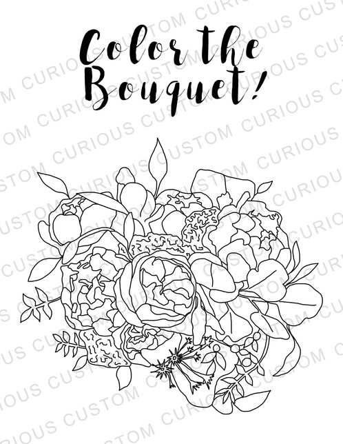 Wedding Welcome Bag Coloring Book Package Custom Books