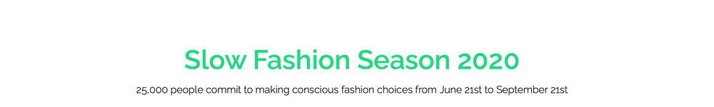 Slow Fashion Season 2020