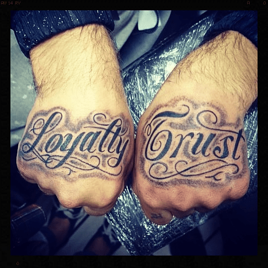 Loyalty Quotes Tattoo: Loyalty Trust Tattoos Hand And