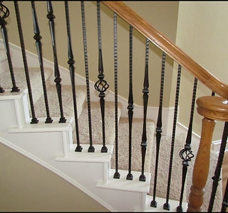 Iron Stair Parts Premium Stair Parts   Iron Handrails For Stairs   Cheap   Staircase   Spanish Style   Wood   Craftsman Style