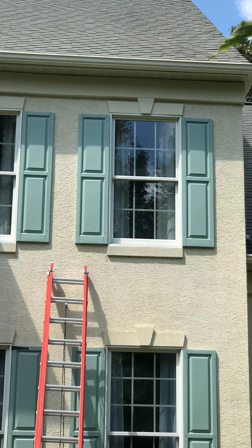 Faux Window Shutter Hardware Diy More Future Exterior Plans