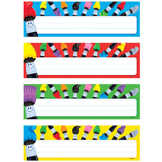 Colortime Paintbrushes Desk Name Plates