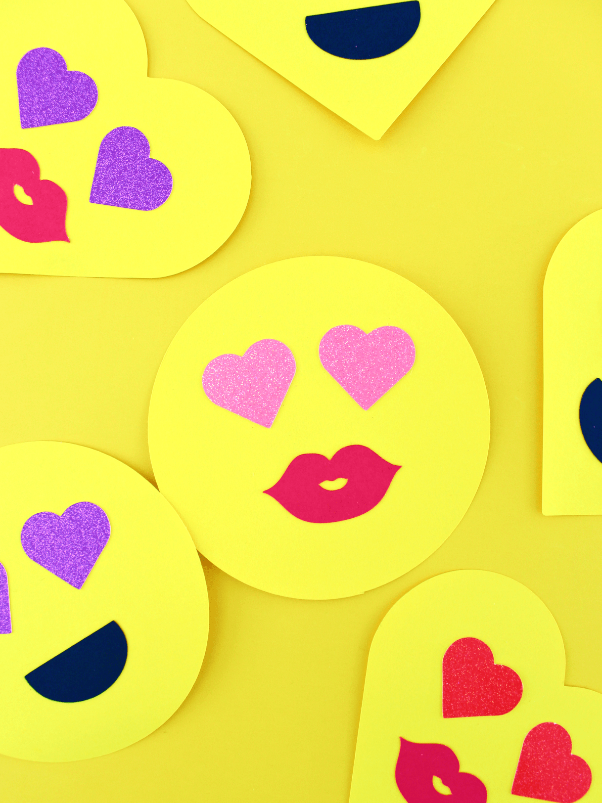 Two Step Paper Emoji Valentine S With Free Cut File