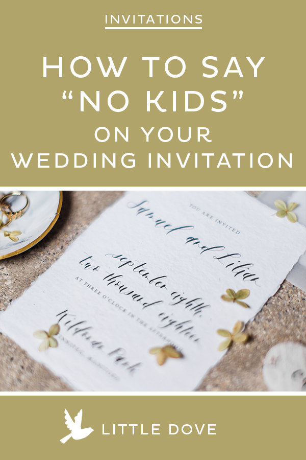 How To Say No Children On Your Wedding Invitations