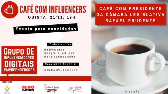 Presidente da Câmara Legislativa do DF recebe digitais influencers para um café