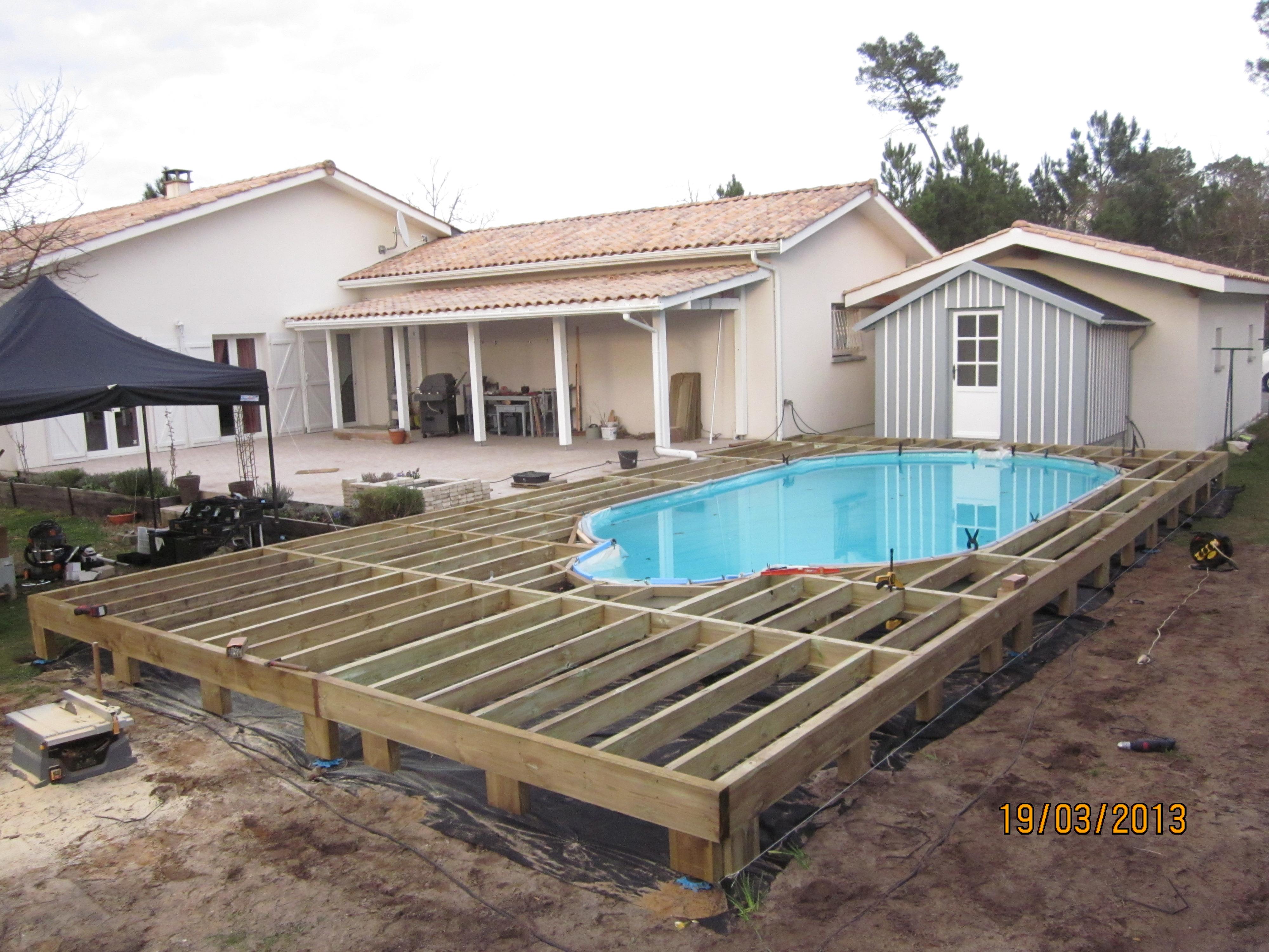 ossature pour terrasse bois et composite