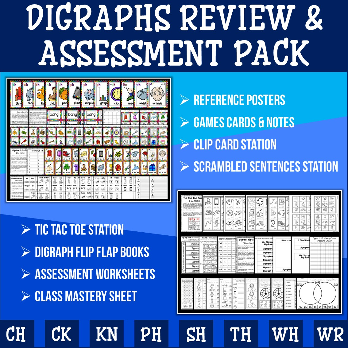 Phonics Digraph Revision And Assessment Pack