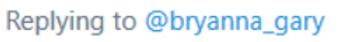 Screenshot of someone responding to a tweet