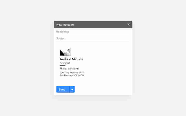 logo size in email signature