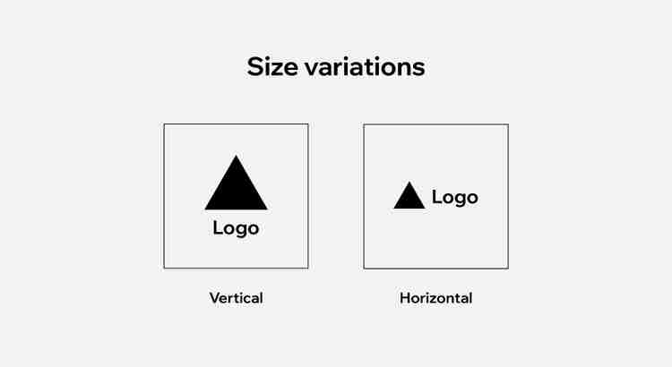 logo size variations, vertical and horizontal alignment