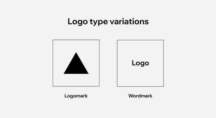 logo type variations, logomark and wordmark