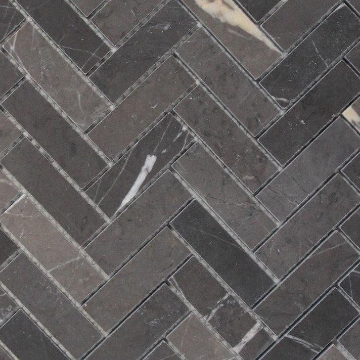 porto pietra grey herringbone honed mosaic 280x248x10mm edgetilestone