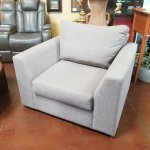 Gray Oversized Swivel Chair Scottsdale