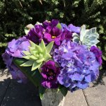 Purple Succulent Arrangement Ce Flowers