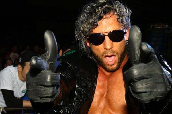 Kenny Omega taunts the camera