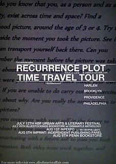 Recurrence Plot book tour