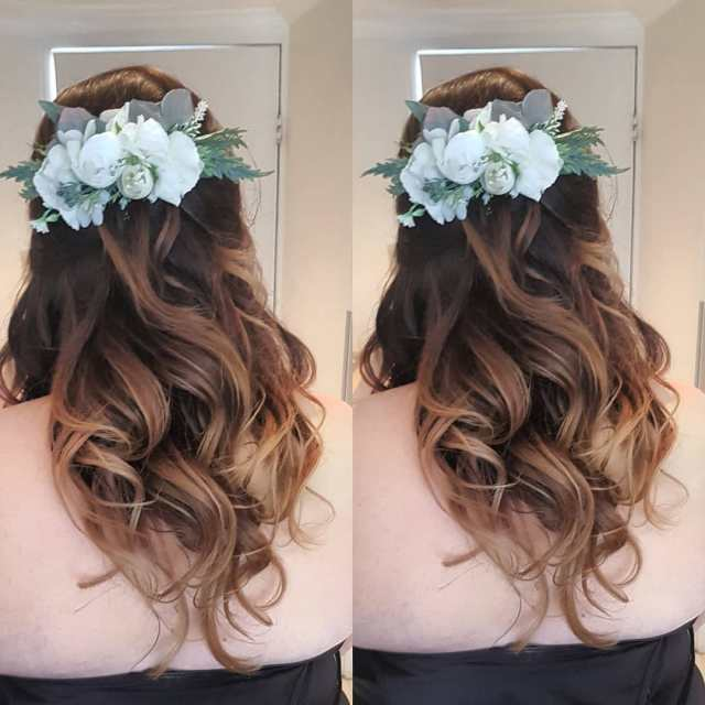 bridal hair accessories | bridesmaid hairstyles | gloss girl