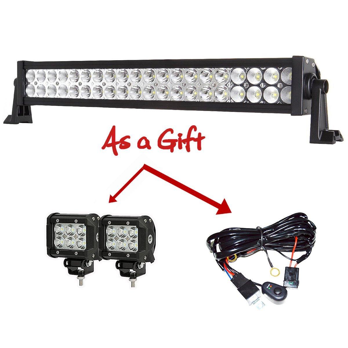 24 Led Light Bar And 4 Pods