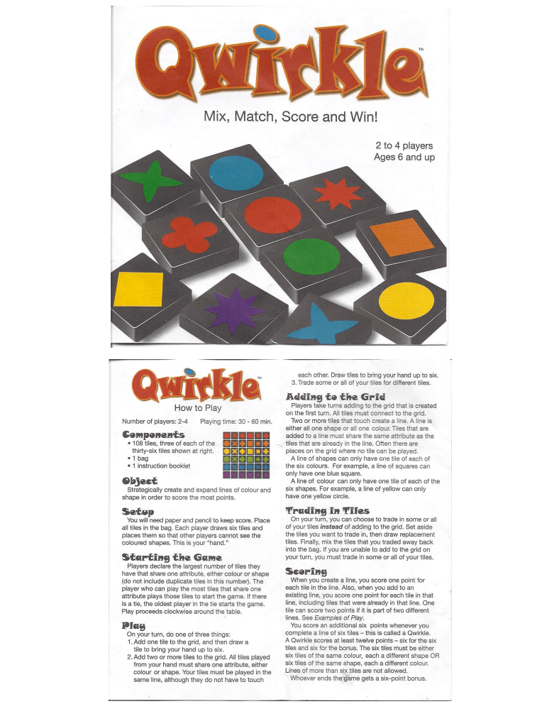 Qwirkle Game Rules Cartoonwjd