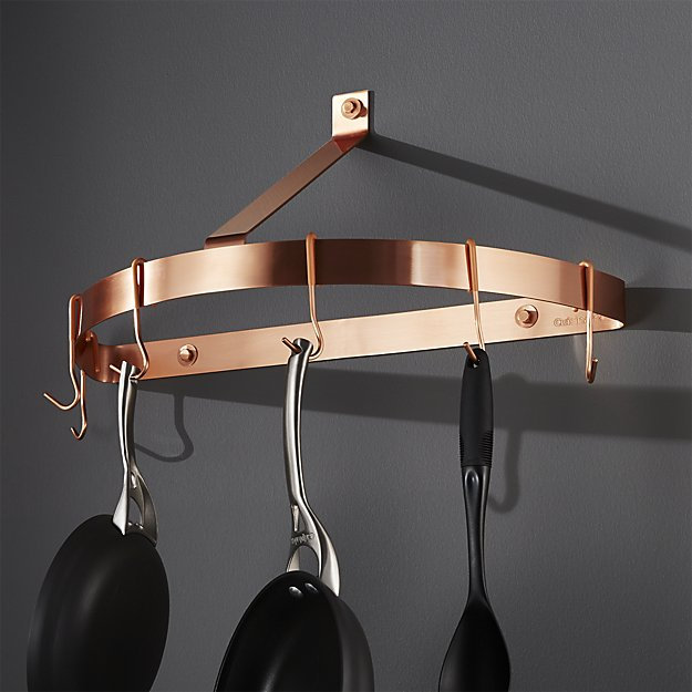cuisinart half circle polished copper wall mount pot rack serendipitysattic