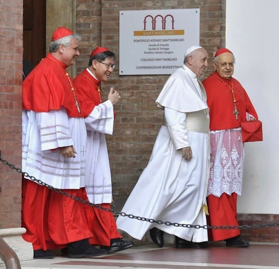 Cardinal Tagle Joins Pope Francis for Ash Wednesday Mass