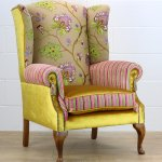Soleil Bleu Wing Back Chair