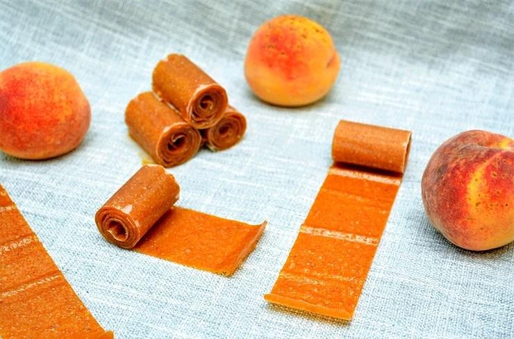 Healthy Peach Fruit Roll-ups