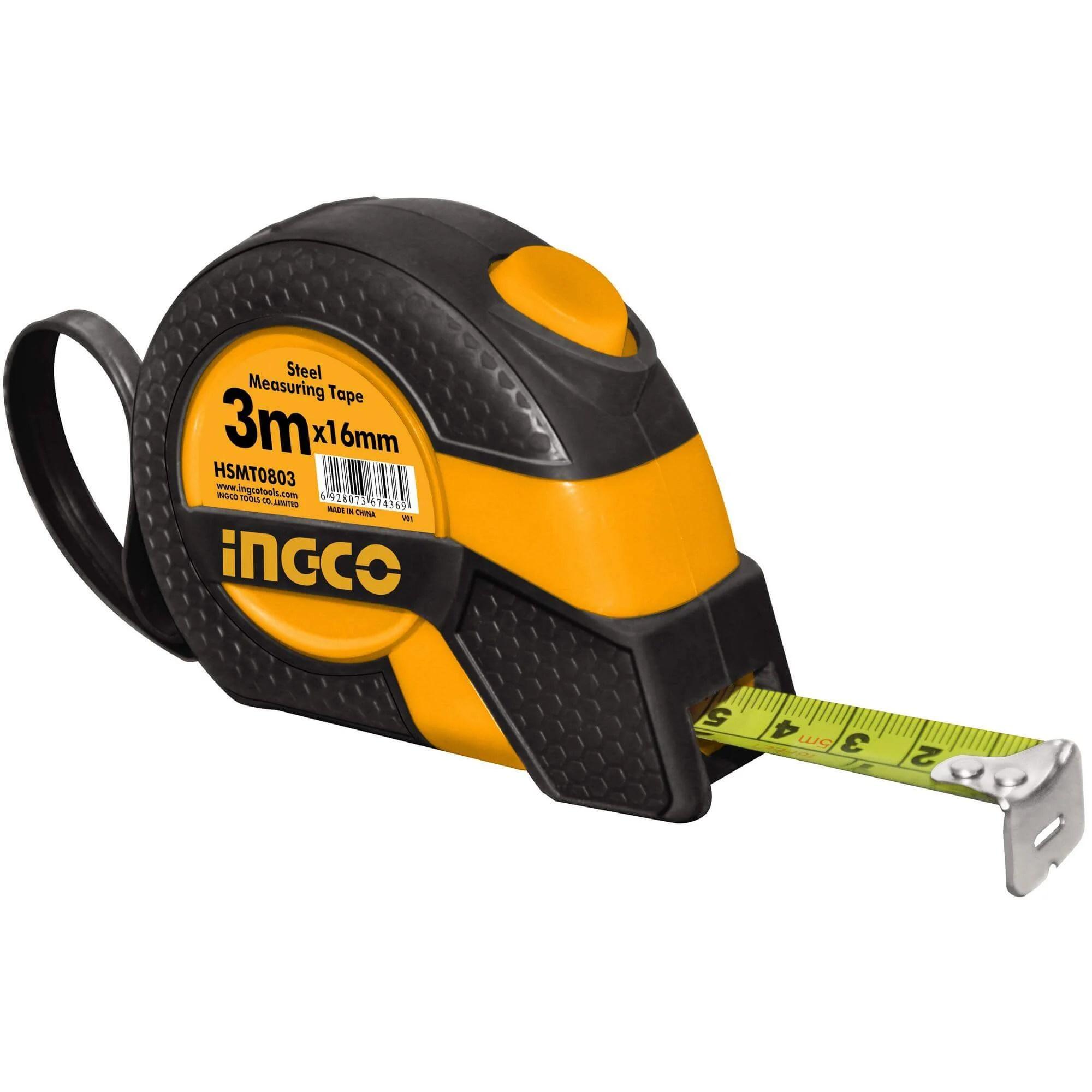 INGCO HSMT0803D Steel Measuring Tape 3M | Rowaie.com
