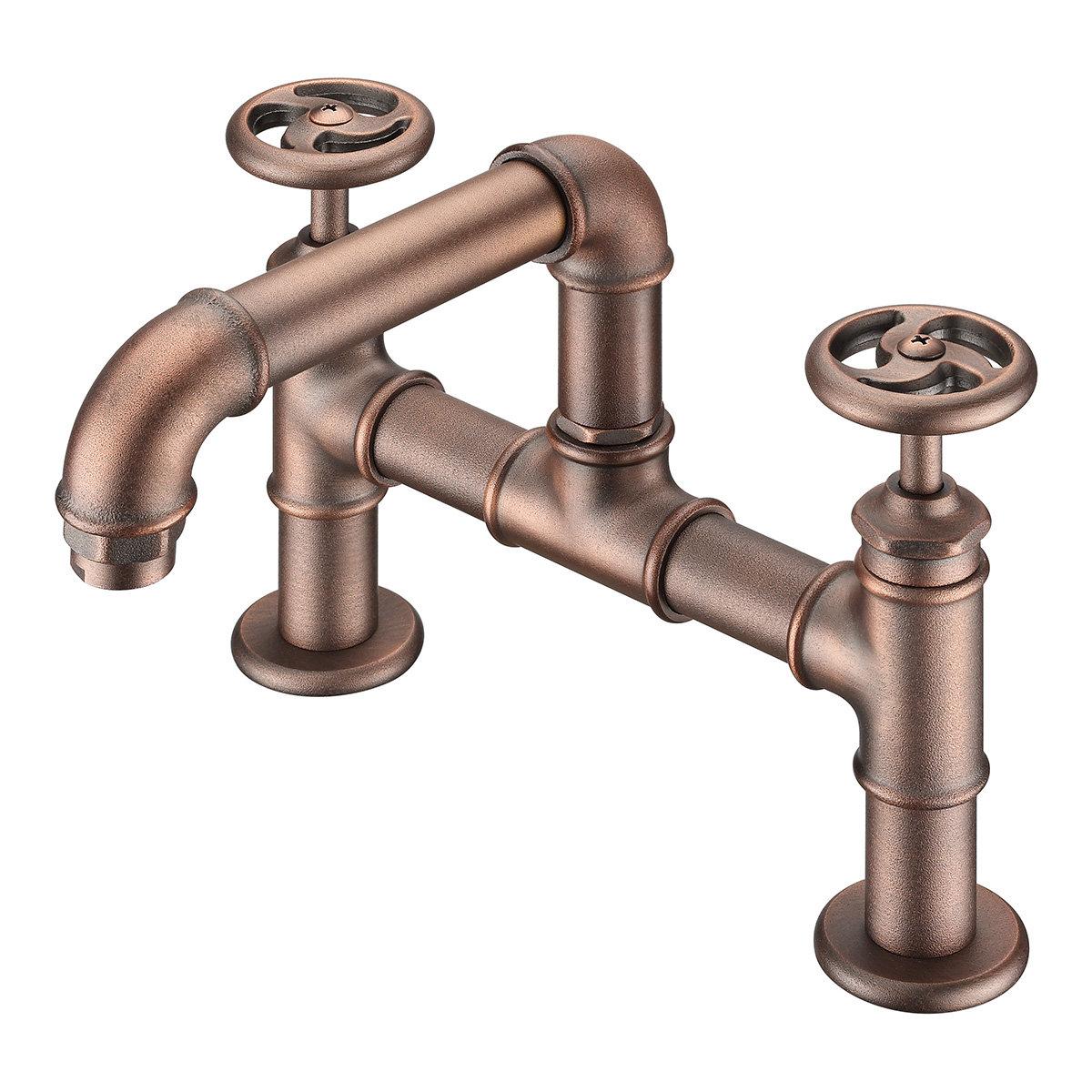 loft bathroom deck mounted tub faucet