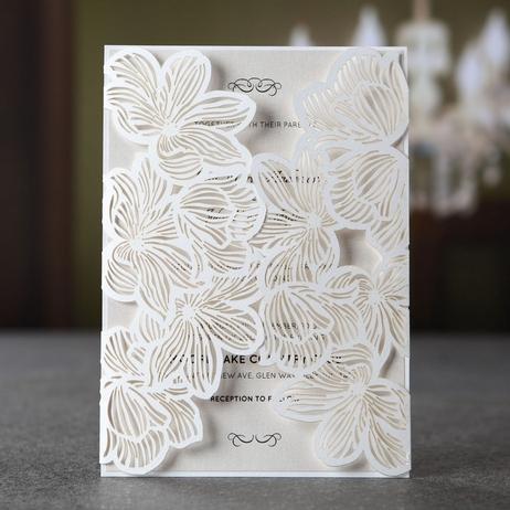 Print Laser Cut Wedding Invitations